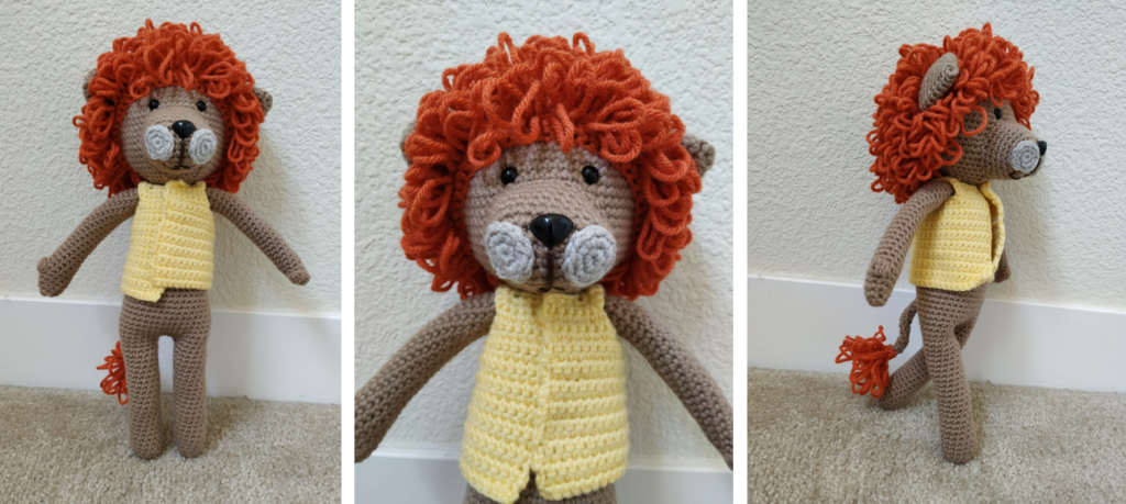 Laurence the Lion Free Amigurumi Pattern | Jess Huff | 459x1024